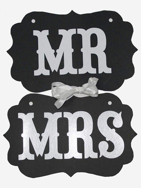 Store MR And MRS Pattern Hanging Chair Signs