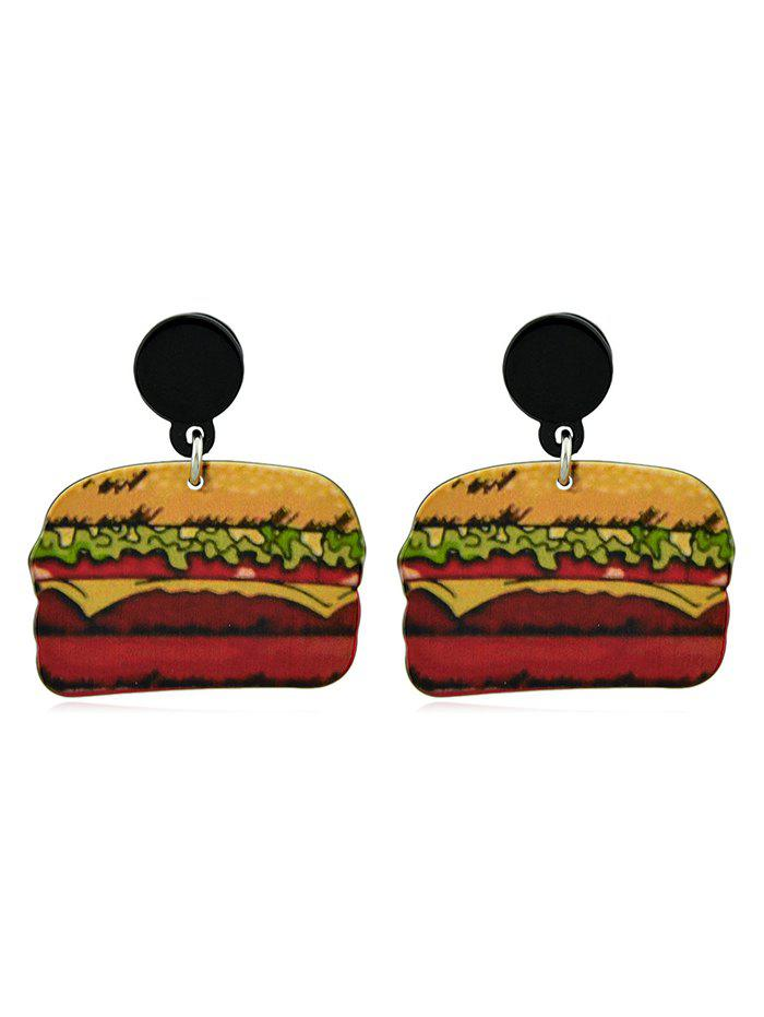 Cheap Doughnut Hamburger Design Acrylic Earrings