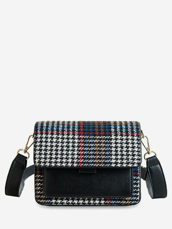 Buy Houndstooth Leather Square Shoulder Bag