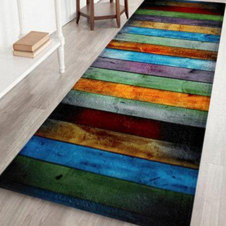 Discount Colorful Stripe Velvet Large Area Rug