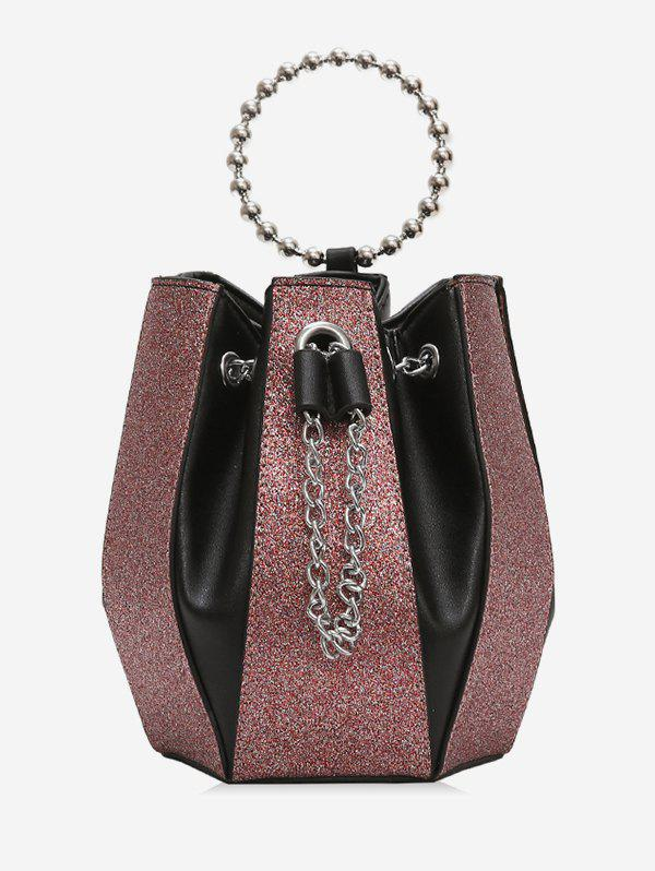 Chic Leather Joint Bucket Chain Shoulder Bag