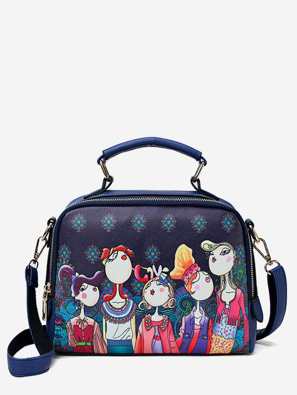 Buy Forest Top Handle Printed Square Crossbody Bag