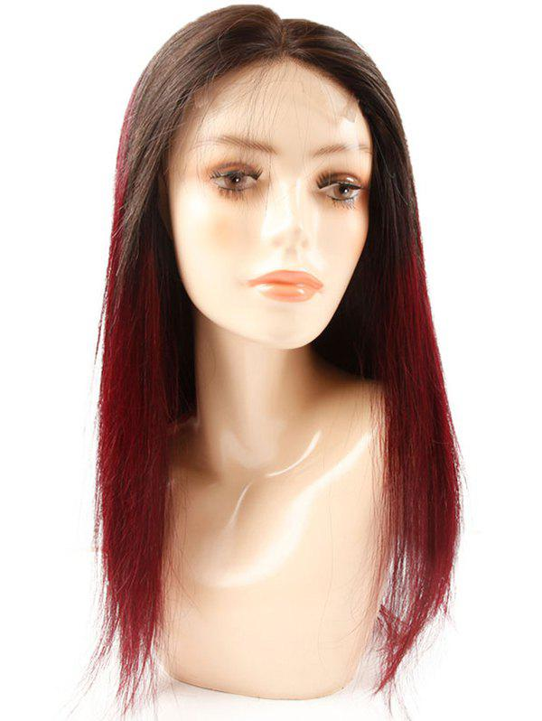 Store Medium Human Hair Ombre Straight Lace Front Wig