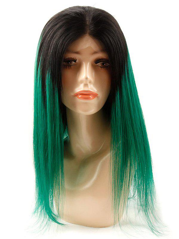 Online Medium Human Hair Ombre Straight Lace Front Wig