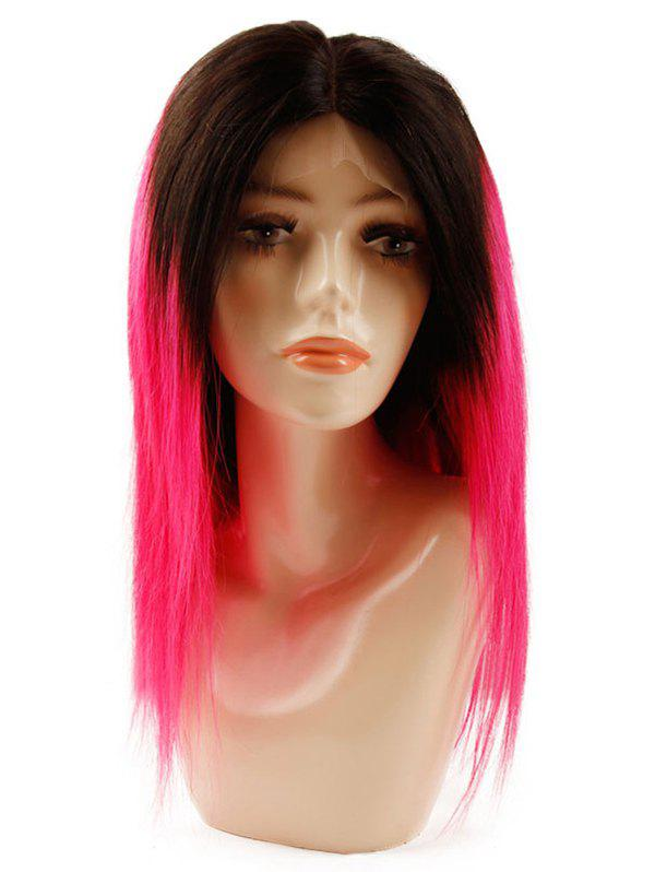 Latest Medium Human Hair Ombre Straight Lace Front Wig