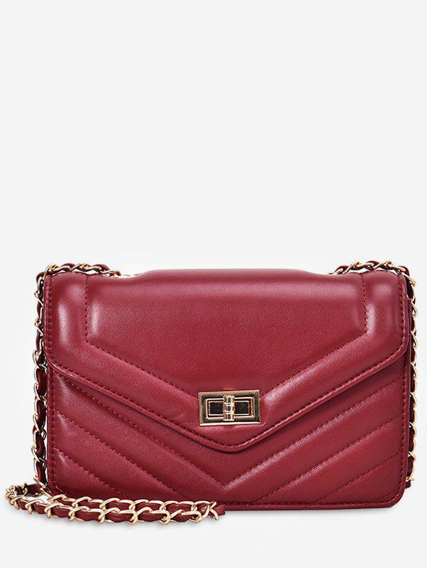Trendy Leather Square Chain Shoulder Bag