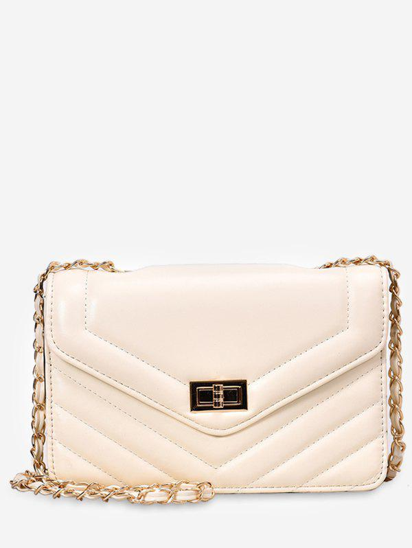 Outfits Leather Square Chain Shoulder Bag