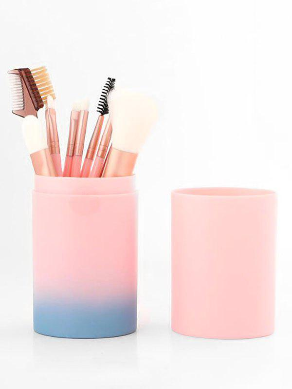 New 12Pcs Ombre Handle Makeup Brushes with Brushes Holder