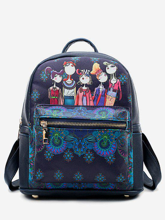 Best Forest PU Student Pattern Soft Backpack