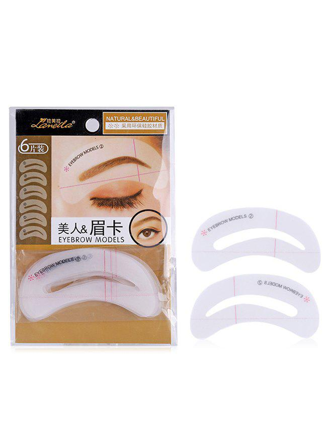 Latest 6Pcs Makeup Tools Eyebrow Stickers