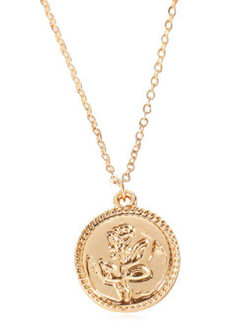 Affordable Floral Round Pendant Necklace