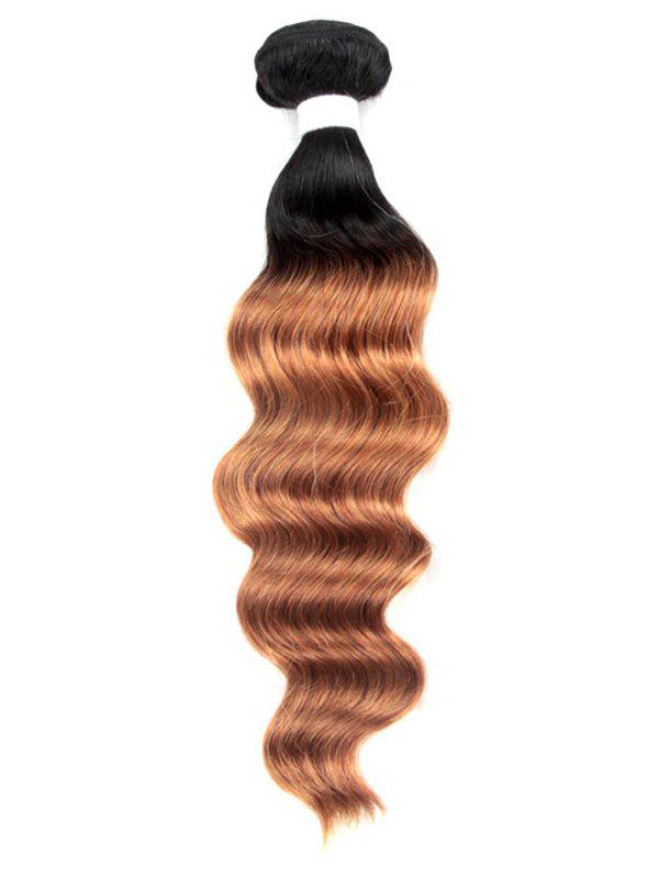 Fashion 1Pc Human Hair Ombre Deep Wave Brazilian Virgin Hair Weave