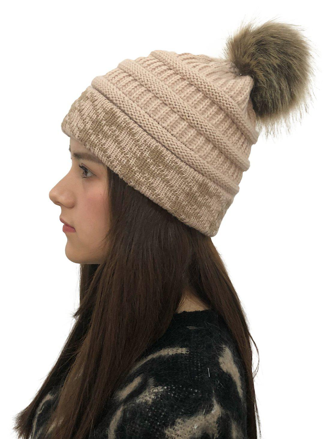 Best Fuzzy Ball Knitted Cap