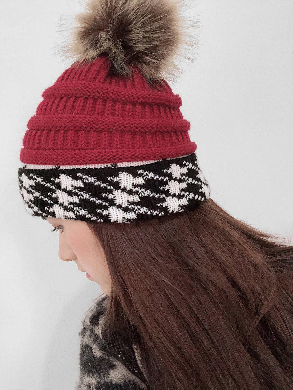 Affordable Fuzzy Ball Knitted Cap