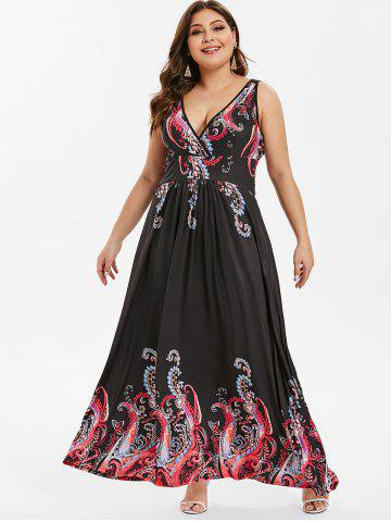 47f1aa718c26e Tribal Print Plus Size Maxi Dress