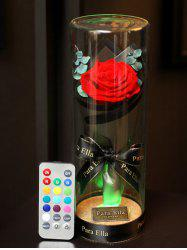Valentines Day Artificial Rose Flower with LED Light -