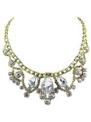 Water Drop Faux Crystal Statement Necklace -