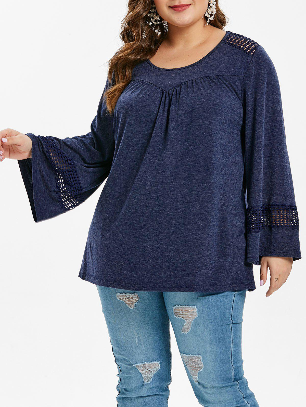 Chic Plus Size Hollow Out T-shirt