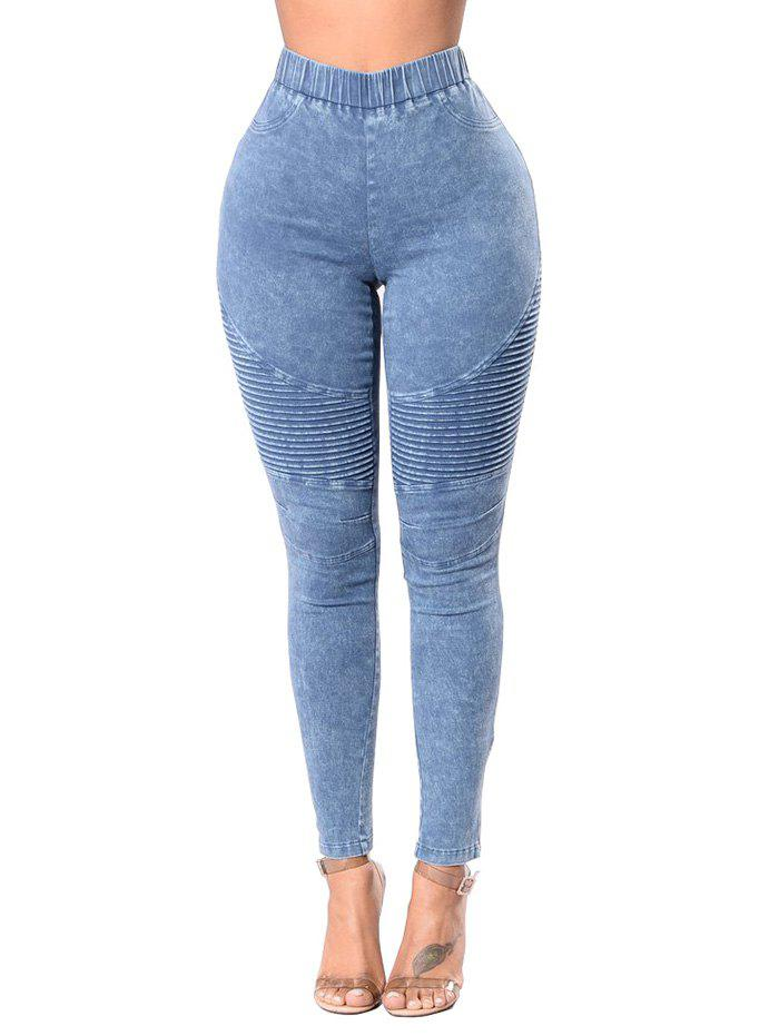 Discount High Waist Ruched Skinny Jeans