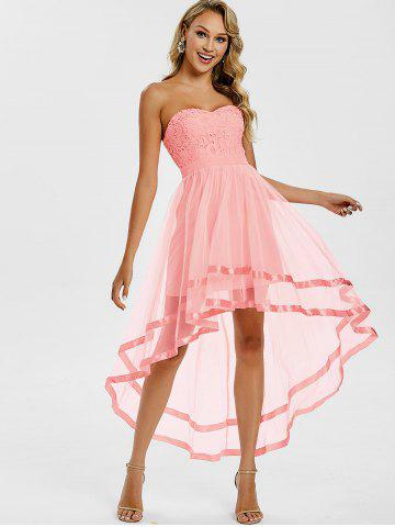 Strapless High Low Prom Dress