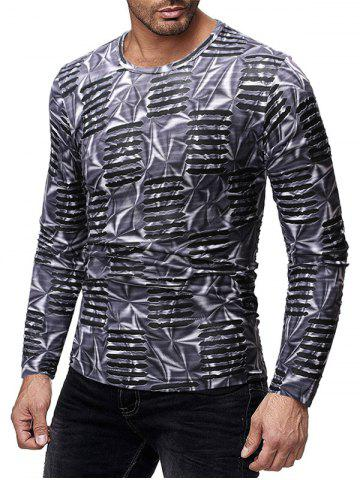 Long Sleeves Slim Fit Ripped T-shirt