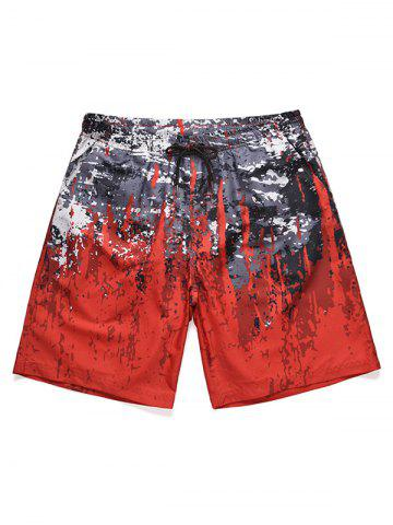 Splatter Paint Low Waist Beach Shorts