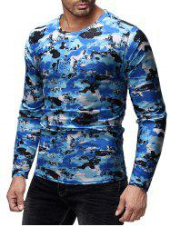Camouflage Print Slim Fit Long Sleeves T-shirt -