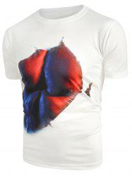 Muscle 3D Print Round Collar Tee -