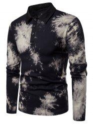 Collared Buttoned Tie Dye T-Shirt -