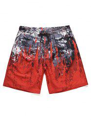 Splatter Paint Low Waist Beach Shorts -