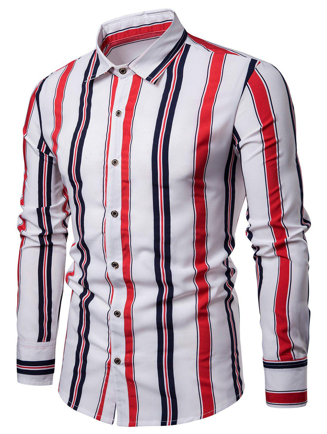 Outfit Vertical Striped Mens Shirt