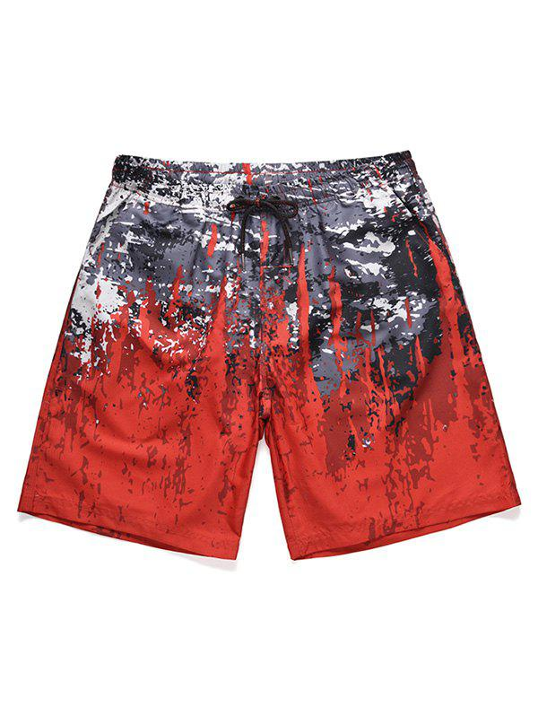 Discount Splatter Paint Low Waist Beach Shorts