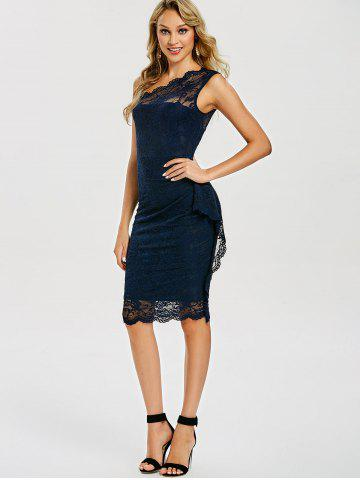 Sleeveless Floral Lace Dress