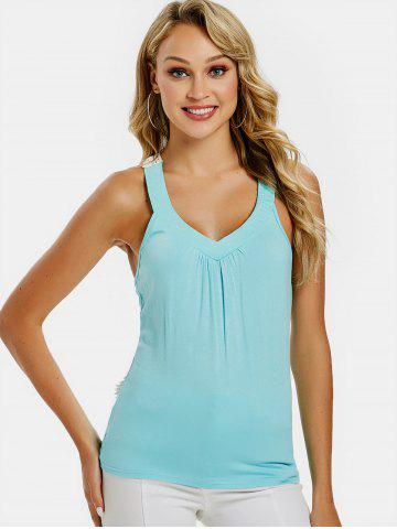 Crochet Lace Panel Fitted Tank Top