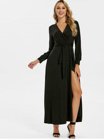 A Line Surplice Maxi Dress