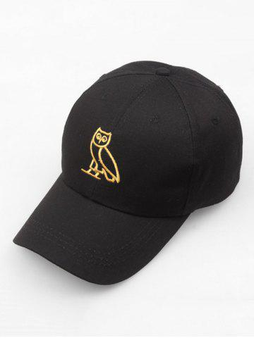 Night Owl Embroidery Sport Baseball Cap