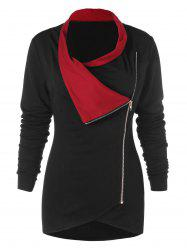 Full Sleeve Tulip Front T-shirt with Zipper -