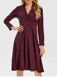 Surplice A Line Shirt Dress -