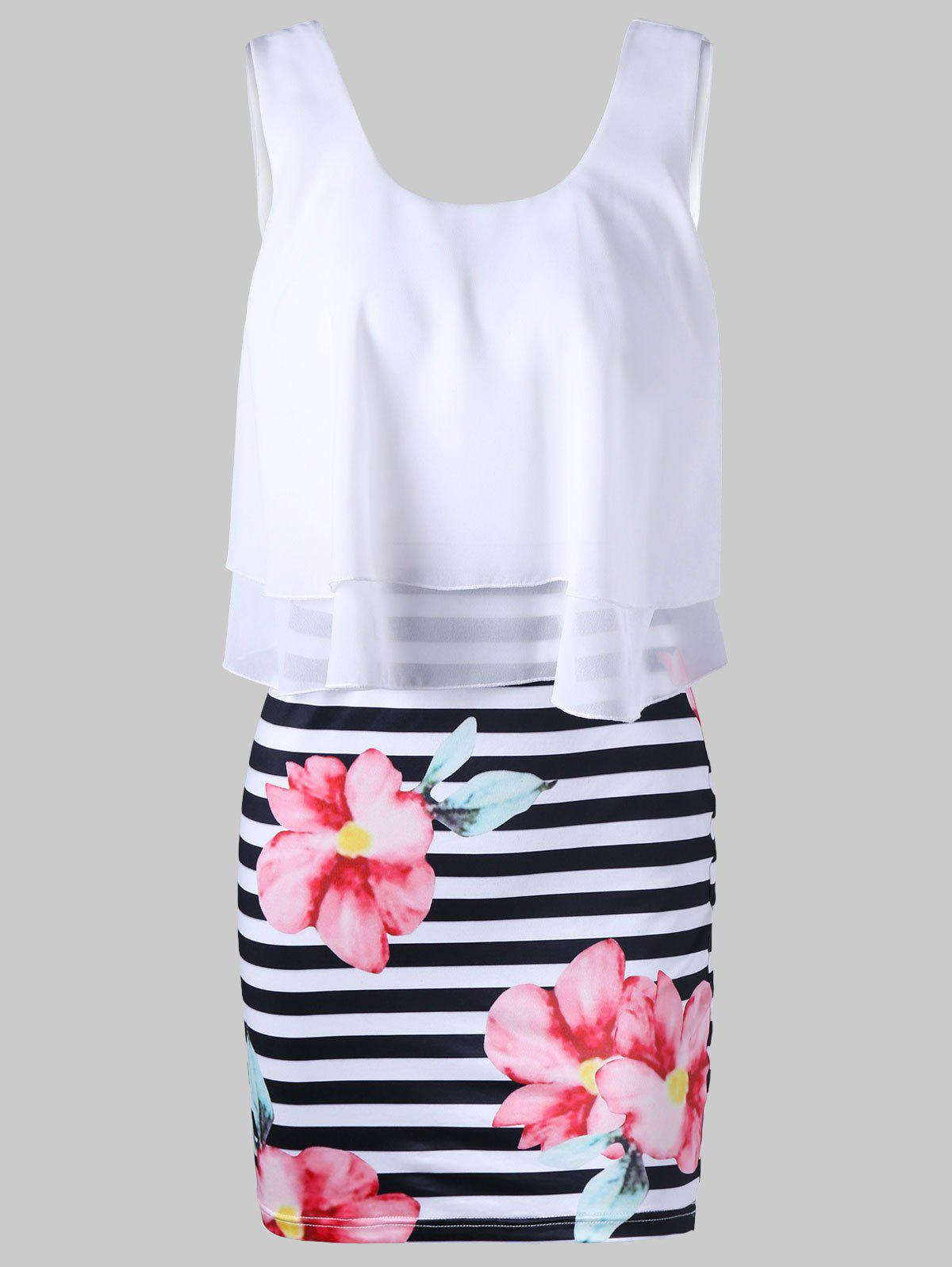 Outfits Floral with Striped Tight Popover Dress