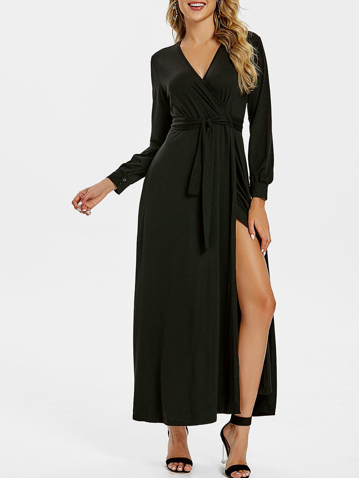 Chic A Line Surplice Maxi Dress