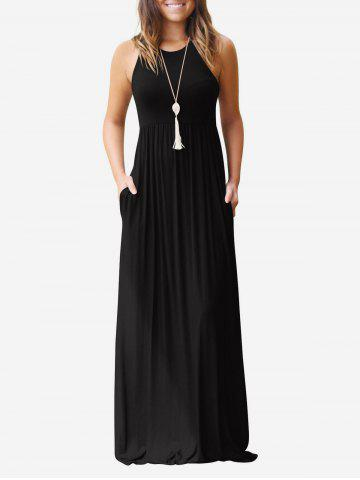 High Waist Round Neck Dress