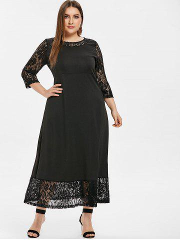 a3312a10f6 Plus Size Maxi Dresses - Long Sleeve, Floral, White And Black Cheap ...