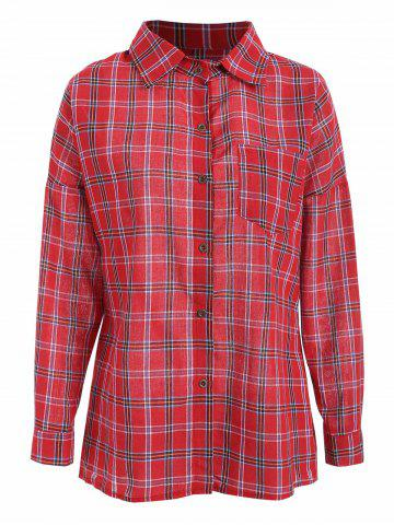 Chest Pocket Plaid Casual Shirt