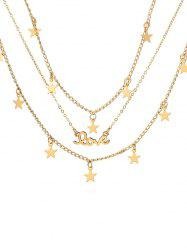 Star Shape Multilayered Alloy Necklace -