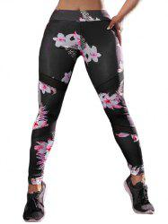 Floral High Waisted Sports Leggings -