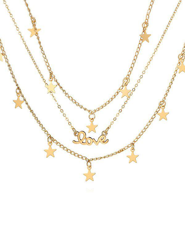 Buy Star Shape Multilayered Alloy Necklace