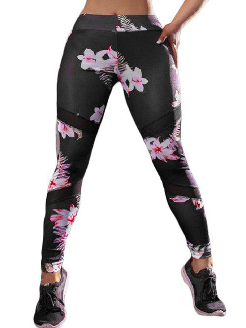 Shops Floral High Waisted Sports Leggings