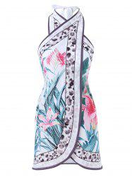 Printed Open Back Cover Up -