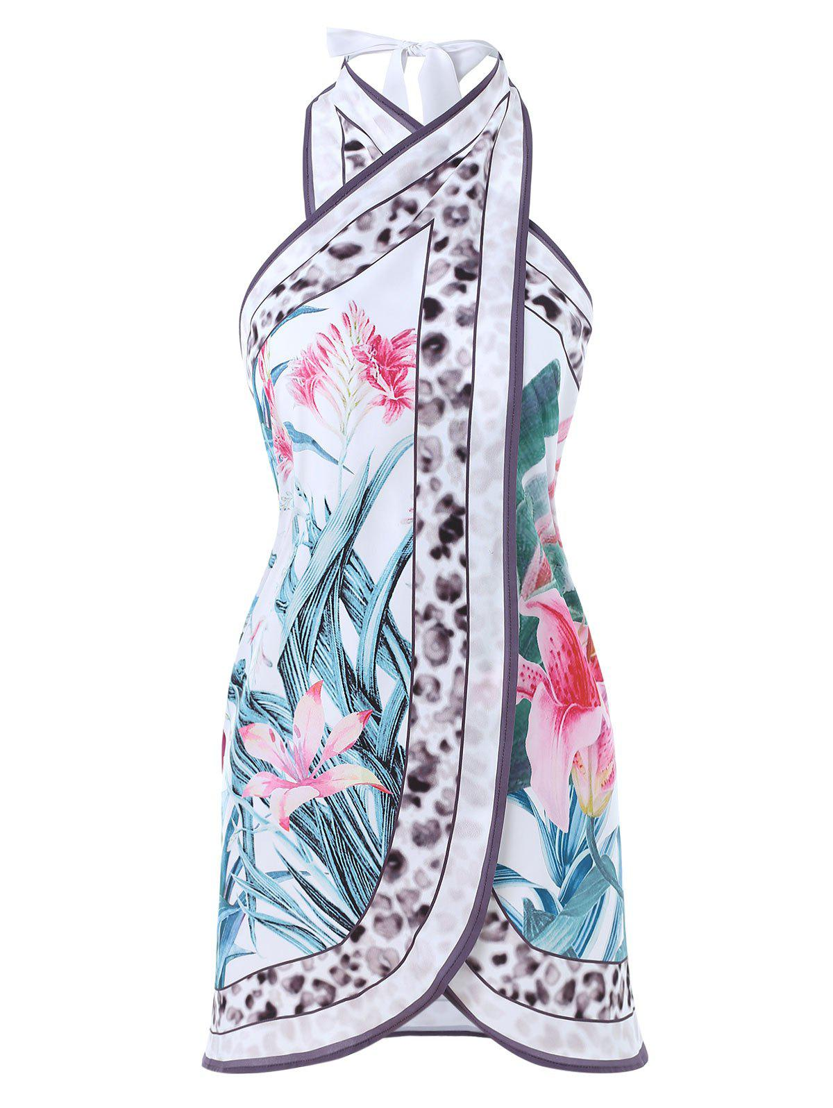 Buy Printed Open Back Cover Up