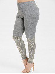 High Rise Skinny Plus Size Leggings -
